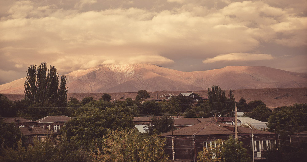 View of Sisian in Armenia