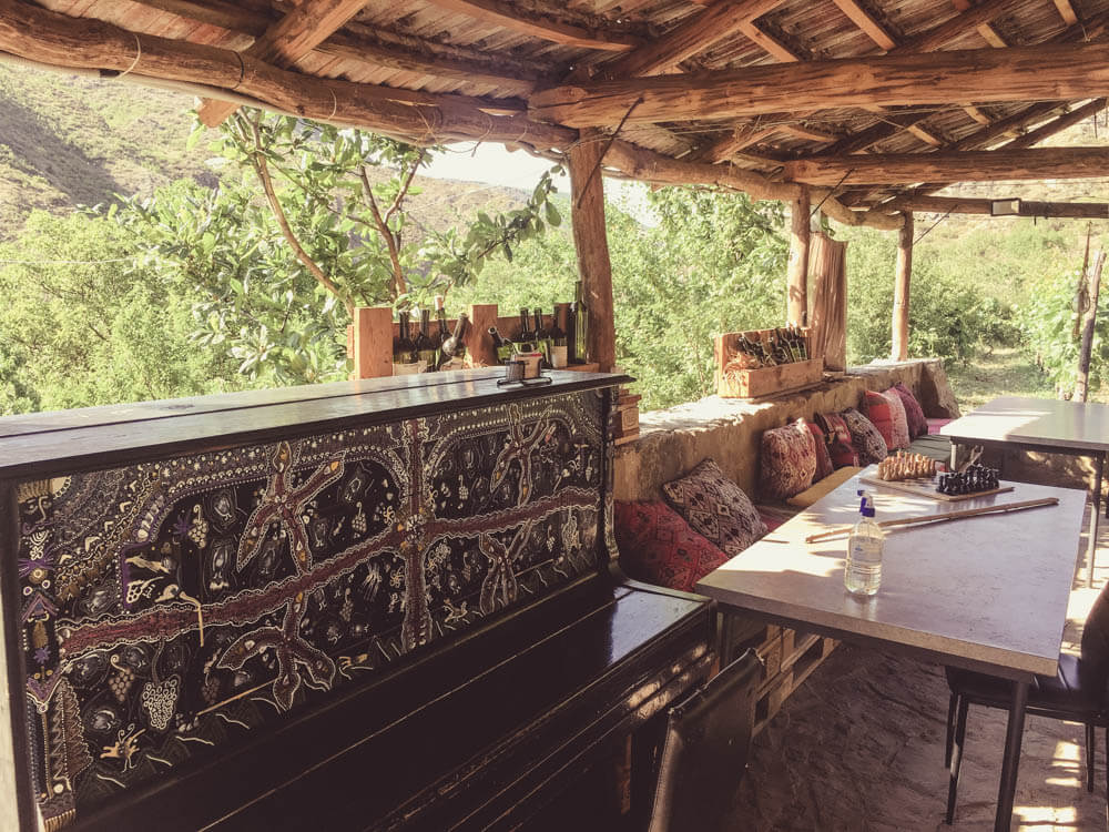 Lunch place in Vacheishvili's guest house
