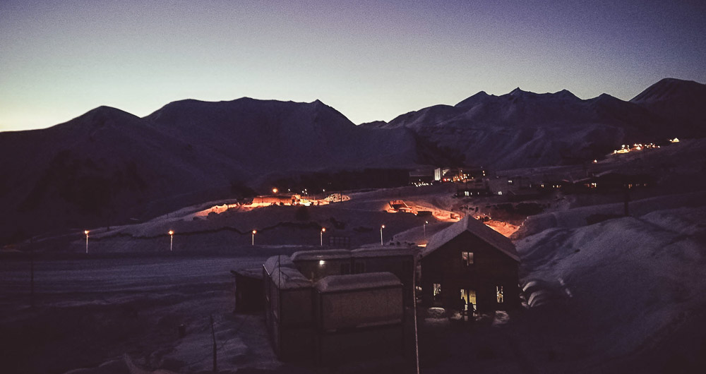 Gudauri ski resort by night