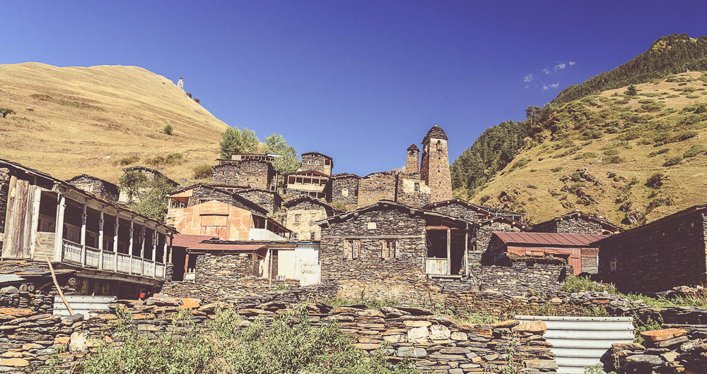 Mountain village Dartlo in Tusheti region